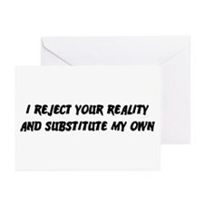 I Reject Your Reality #2 Greeting Cards (Pk of 20)
