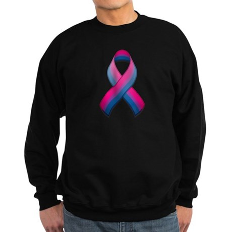 Bi Pride Ribbon Sweatshirt (dark)