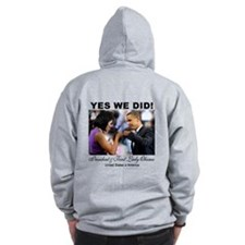 Obama Fist Bump Zip Hoodie