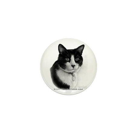 Tuxedo Cat Mini Button (10 pack)