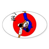 Judo Glory Oval Decal