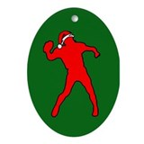 Christmas Quarterback Oval Ornament
