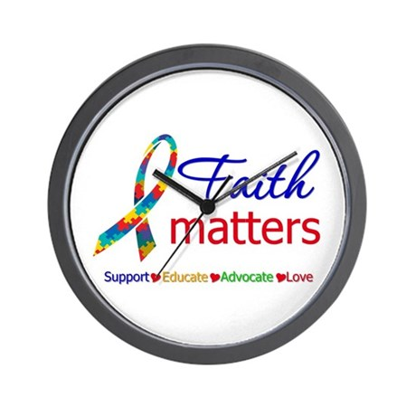 FaithMatters Autism Wall Clock