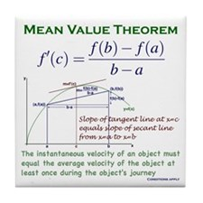 Mean Value Theorem Tile Coaster