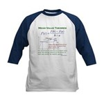 Mean Value Theorem Kids Baseball Jersey