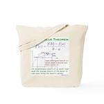 Mean Value Theorem Tote Bag