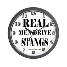 Real Men Drive Stangs Wall Clock