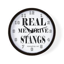Real Men Drive Stangs Wall Clock