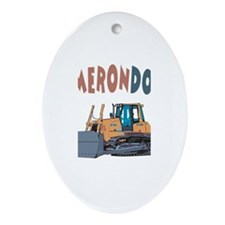 Camerondozer the Bulldozer Oval Ornament