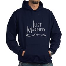 Just Married (gray) Hoodie