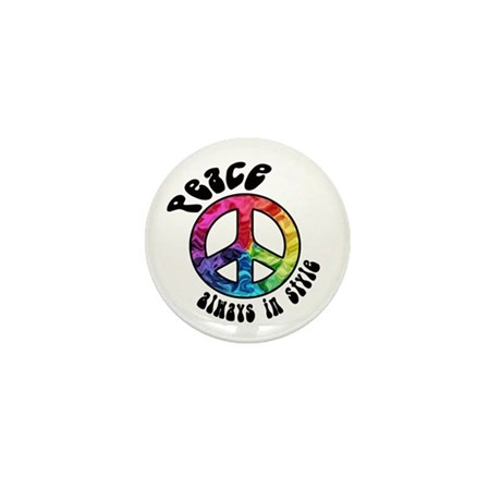 Peace Always in Style Mini Button (10 pack)