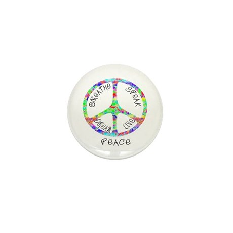 Live Peace Mini Button (100 pack)