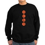 Orange Buttons Sweatshirt (dark)