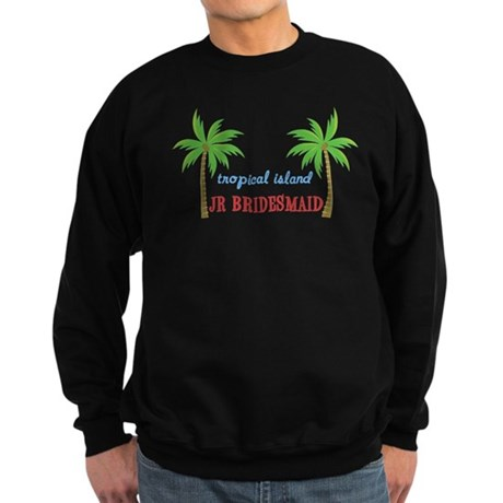 Jr Bridesmaid Tropical Weddin Sweatshirt (dark)