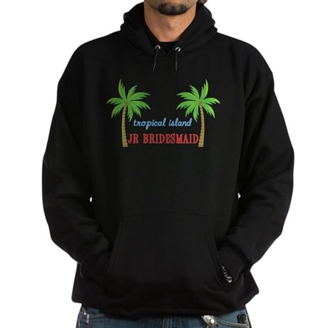 Jr Bridesmaid Tropical Weddin Hoodie (dark)