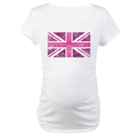 Pink Union Jack Maternity Shirt