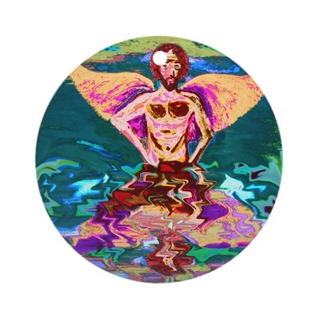 The Faery's Reflection Ornament (Round)