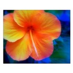Orange Hibiscus Small Poster