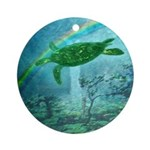 Rainforest Turtle Ornament (Round)