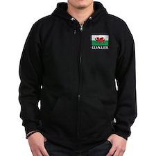 Wales Flag Zip Hoodie