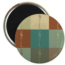 "Chiropractic Pop Art 2.25"" Magnet (10 pack)"