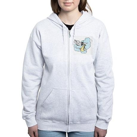 New Delivery Stork Women's Zip Hoodie