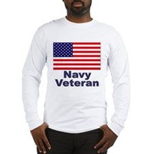 Navy Veteran (Front) Long Sleeve T-Shirt