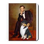 Lincoln / Collie (tri) Mousepad