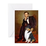Lincoln / Collie (tri) Greeting Card