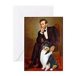 Lincoln / Collie (tri) Greeting Card