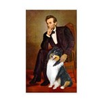 Lincoln / Collie (tri) Rectangle Sticker 50 pk)