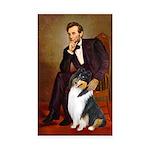 Lincoln / Collie (tri) Rectangle Sticker 50 pk)