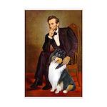 Lincoln / Collie (tri) Mini Poster Print