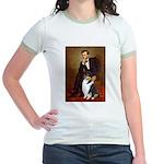 Lincoln / Collie (tri) Jr. Ringer T-Shirt
