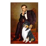 Lincoln / Collie (tri) Postcards (Package of 8)