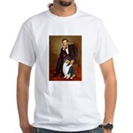 Lincoln / Collie (tri) White T-Shirt