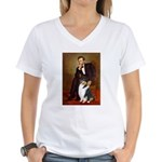 Lincoln / Collie (tri) Women's V-Neck T-Shirt