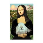Mona Lisa/Poodle (white/toy) Mini Poster Print