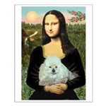 Mona Lisa/Poodle (white/toy) Small Poster