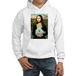 Mona Lisa/Poodle (white/toy) Hooded Sweatshirt