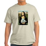 Mona Lisa/Poodle (white/toy) Light T-Shirt