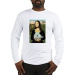 Mona Lisa/Poodle (white/toy) Long Sleeve T-Shirt