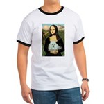 Mona Lisa/Poodle (white/toy) Ringer T