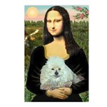Mona Lisa/Poodle (white/toy) Postcards (Package of