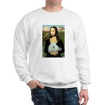 Mona Lisa/Poodle (white/toy) Sweatshirt