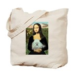 Mona Lisa/Poodle (white/toy) Tote Bag