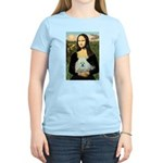 Mona Lisa/Poodle (white/toy) Women's Light T-Shirt