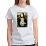 Mona Lisa/Poodle (white/toy) Women's T-Shirt