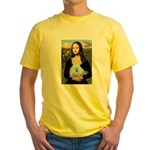 Mona Lisa/Poodle (white/toy) Yellow T-Shirt