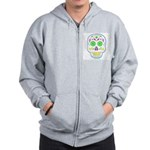 PSYCHEDELIC SKULL Zip Hoodie